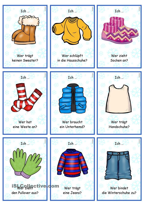 lesespiel  verbkonjugation  winterkleidung  lesespiele
