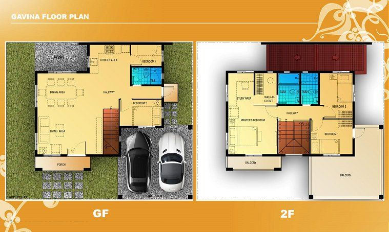Gavina Floor Plan House And Lot In Camella Antipolo Lots For