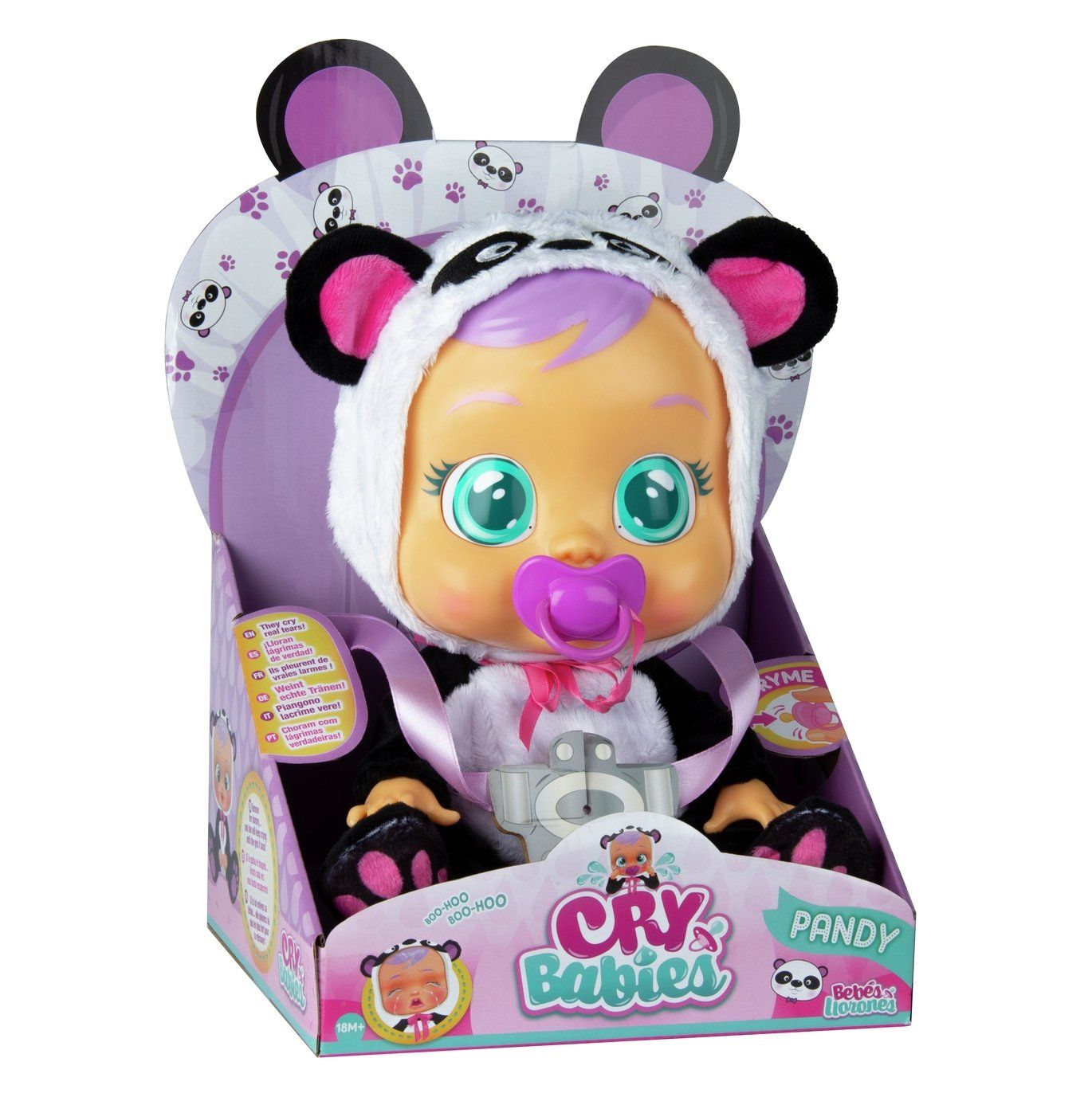 Buy Cry Babies Pandy Dolls Argos In 2020 Baby Crying Cry Baby Baby Doll Accessories