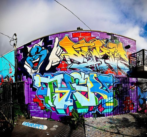 grafitti art. One hell of medium if used in the rite place at the rite time.