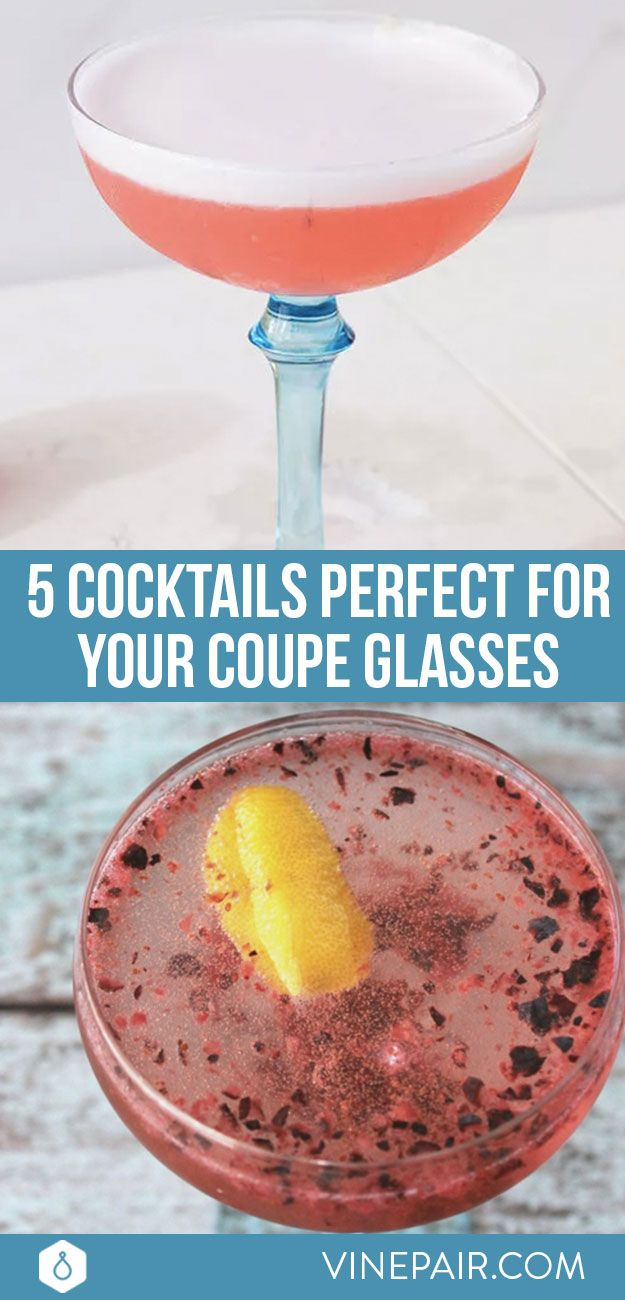 Looking for an excuse to dust off those coupe glasses in your cabinet? Check out these 5 cocktail recipes, all served up in your favorite gorgeous glassware