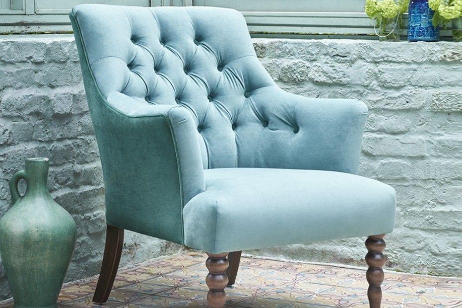 Parker Knoll Juliette Chair in Plush Duck Egg Most