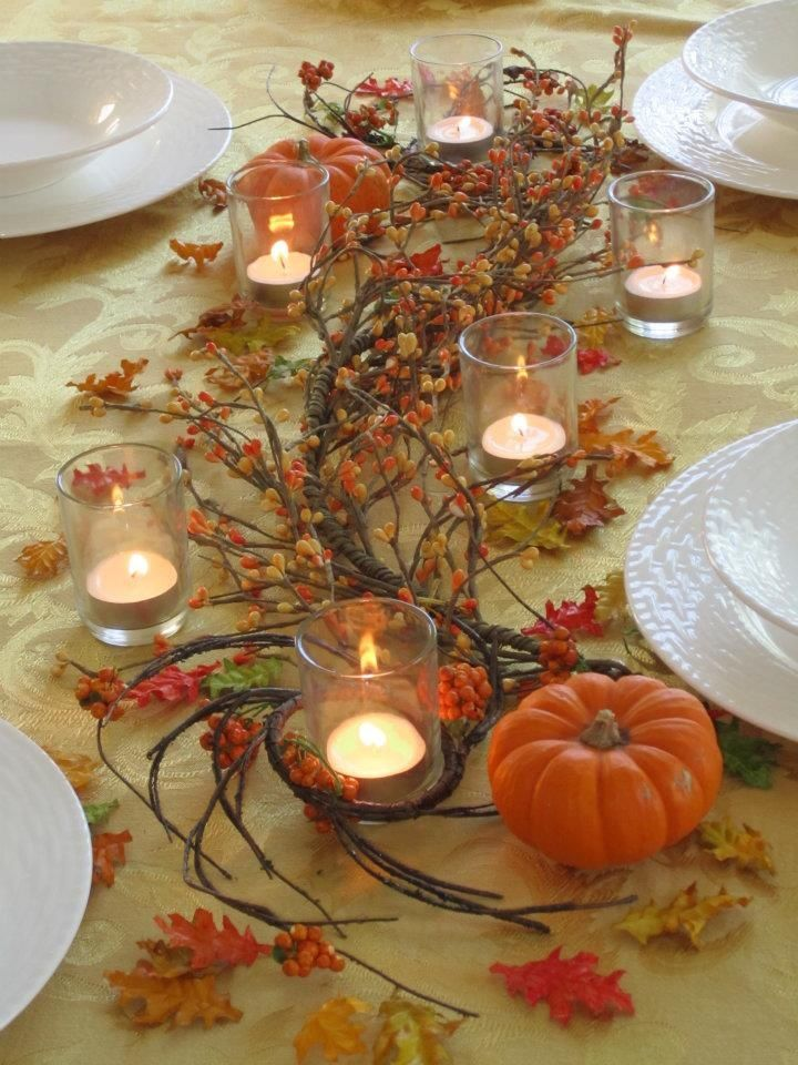 Thanksgiving table centerpieces thanksgiving table for Deko zu hause