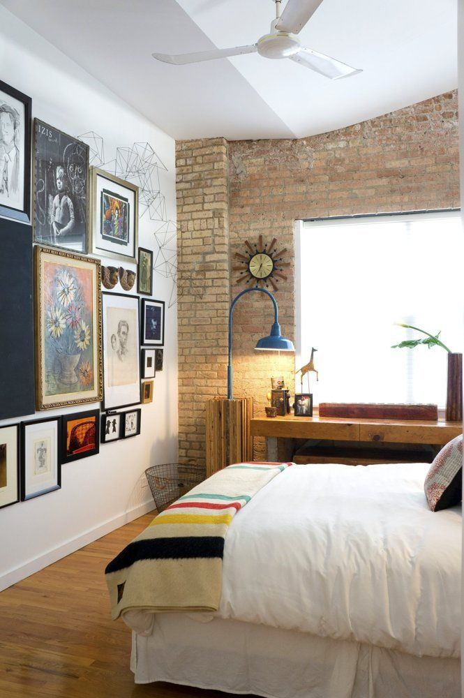 Modern Loft Apartment Bedroom: House Tour: A Modern Eclectic Chicago Loft