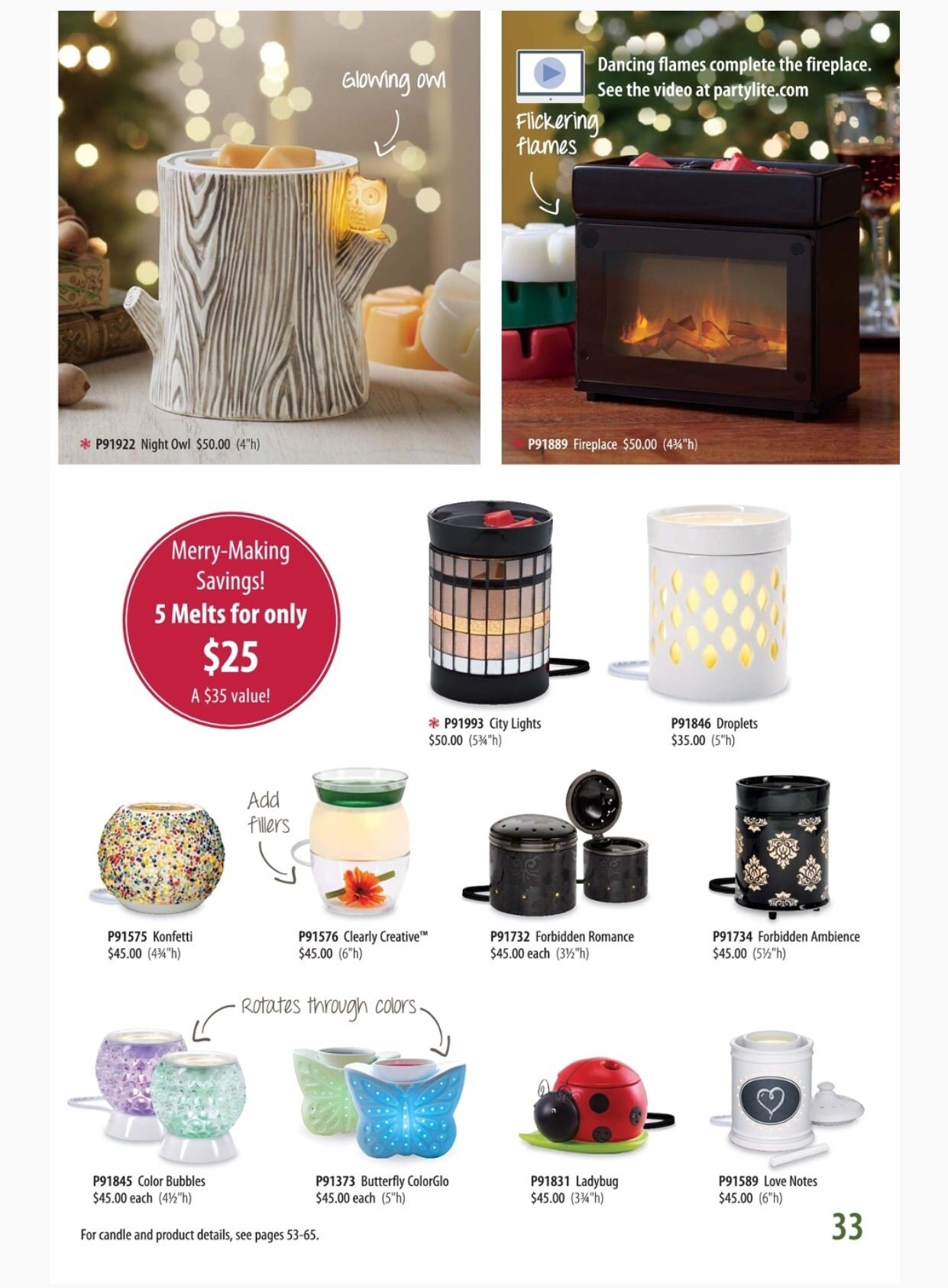 Partylite Fall Holiday 2015 Catalog Scentglow Warmers