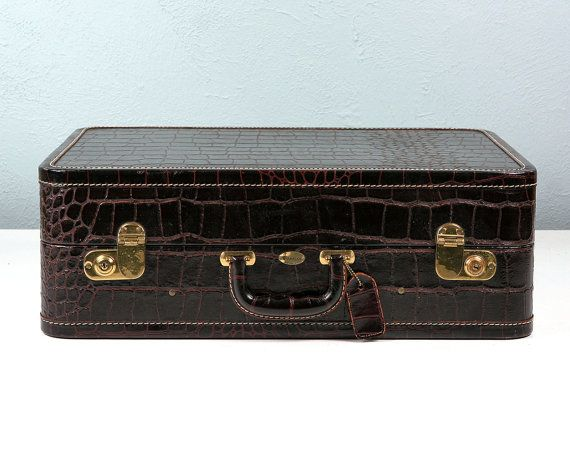 Vintage Maximillian Suitcase with Faux Alligator Old by Retroburgh ...