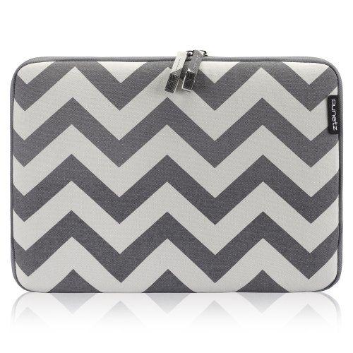 4eaf920e367 Runetz - 13-inch Chevron Gray Soft Sleeve Case Cover for MacBook Pro 13.3