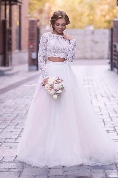 2 Teilig Brautkleider A Linie | Hochzeitskleider Mit ...