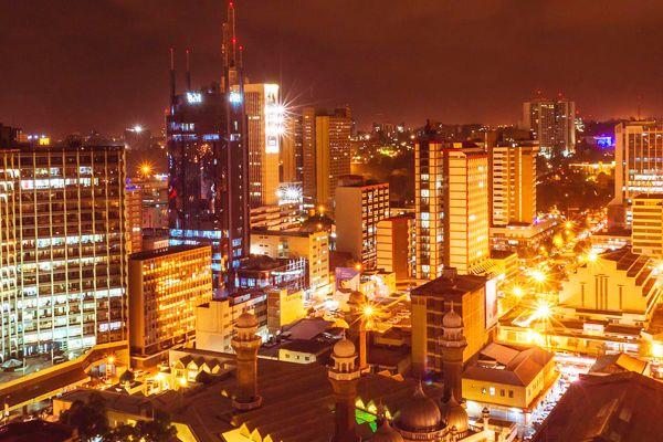 Image result for nairobi city at night