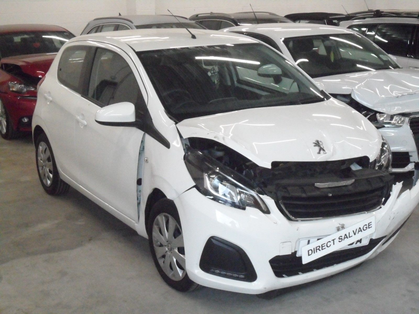 Ebay 2017 17 Reg Peugeot 108 Active White 1 0 Petrol Salvage