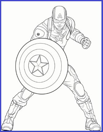 Dibujos Para Colorear De Capitan America Capitan America