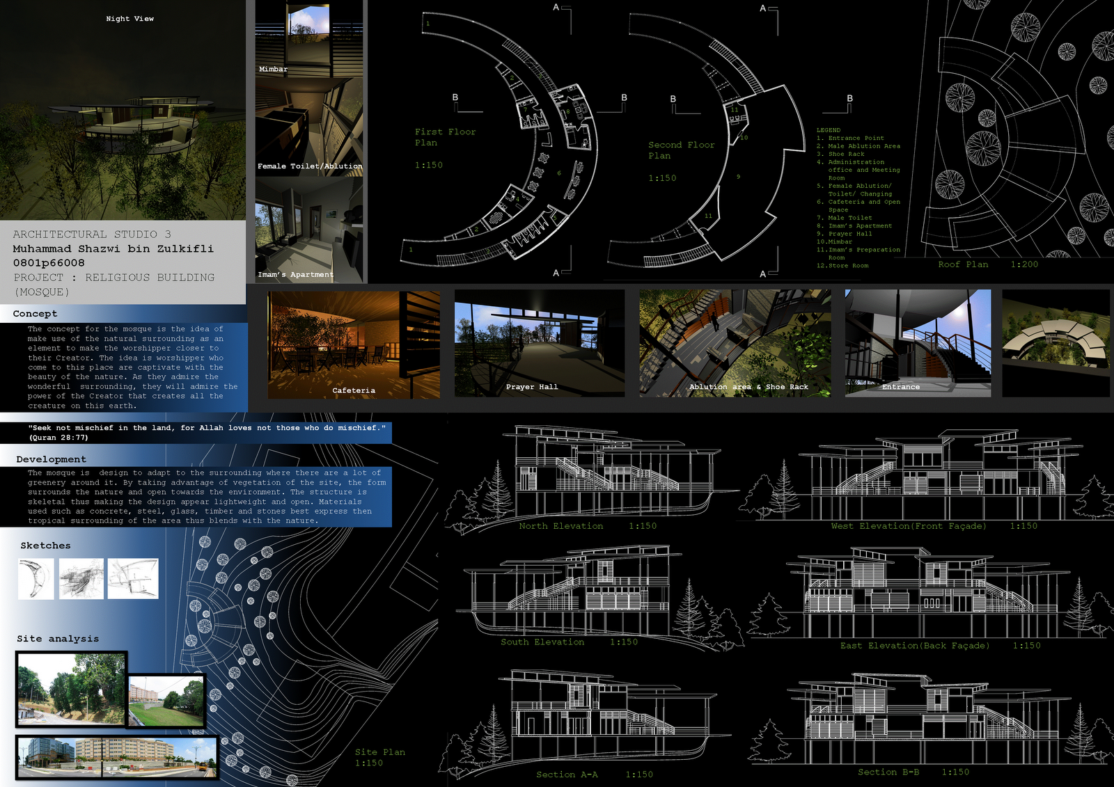 photo collection architecture presentation template, Presentation templates