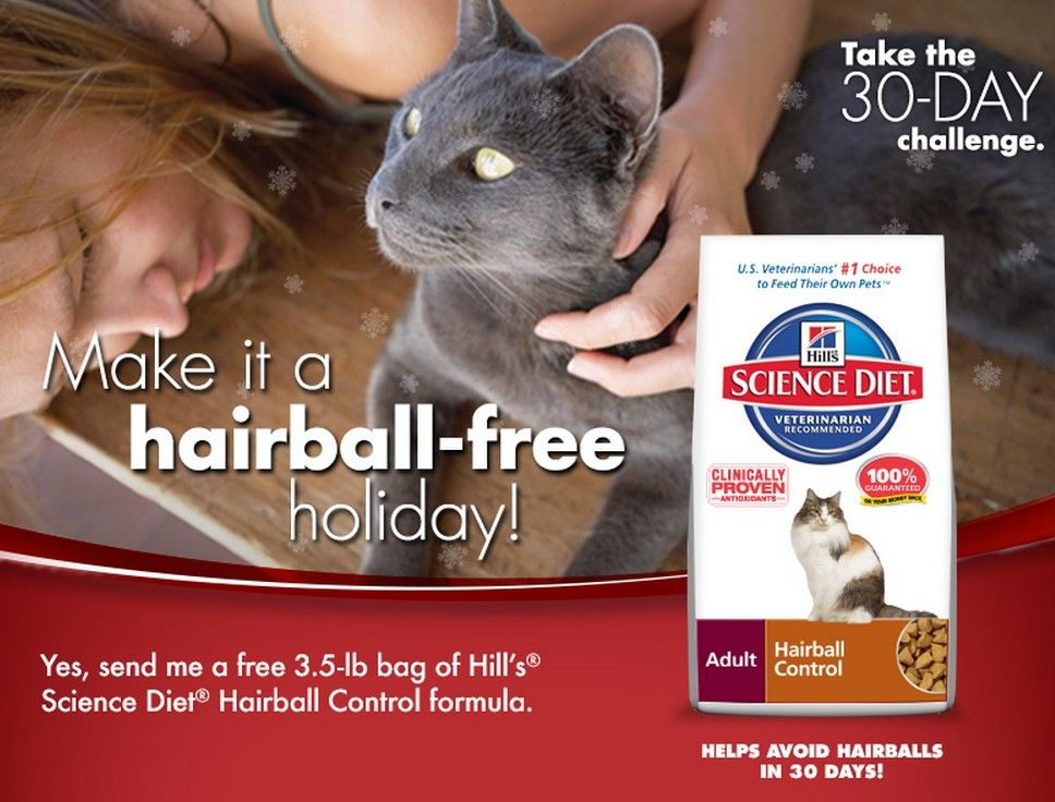 Free Trial Bag of Hill's Science Diet Hairball Challenge