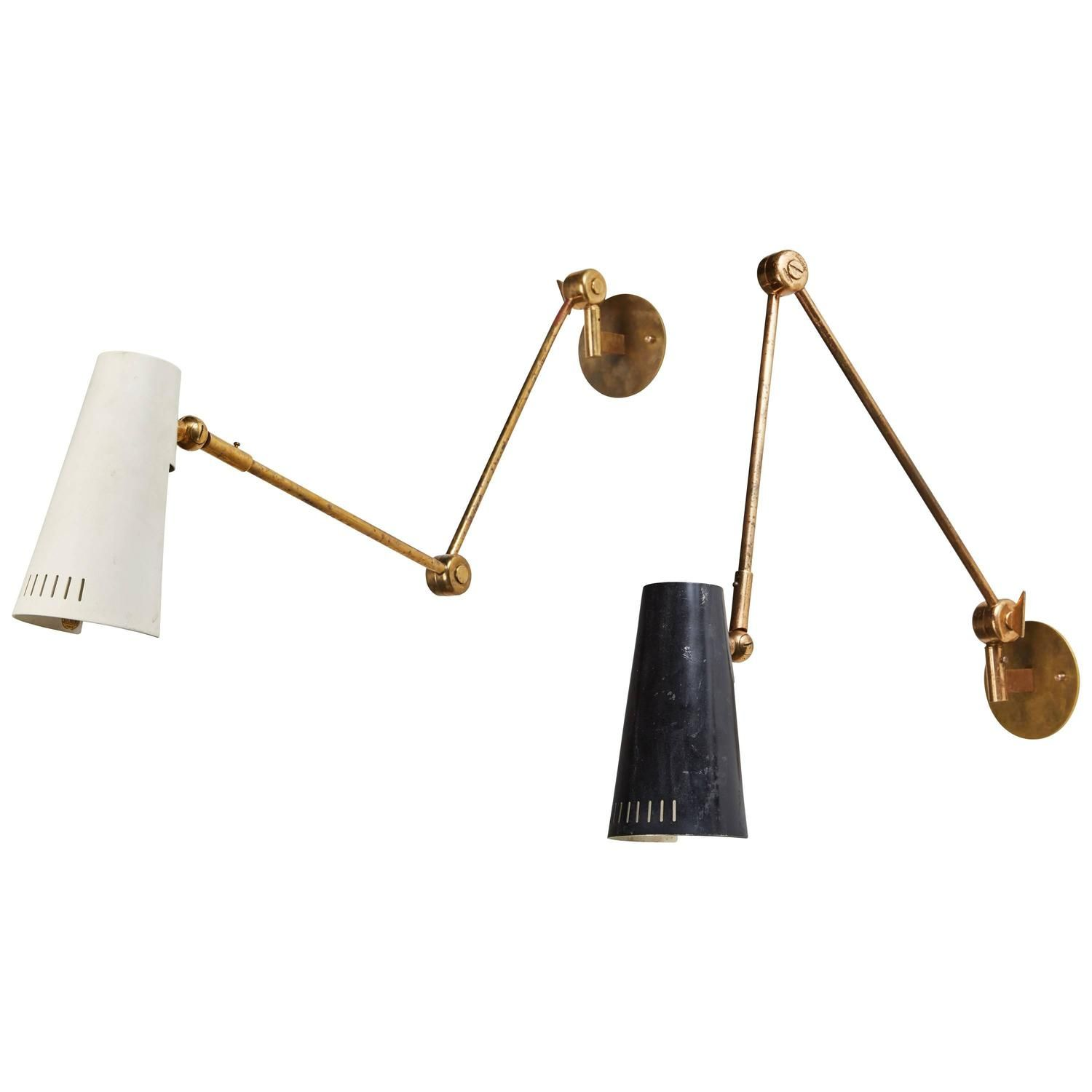 """Unique Pair of Model """"2024"""" Wall Lights by Stilnovo"""