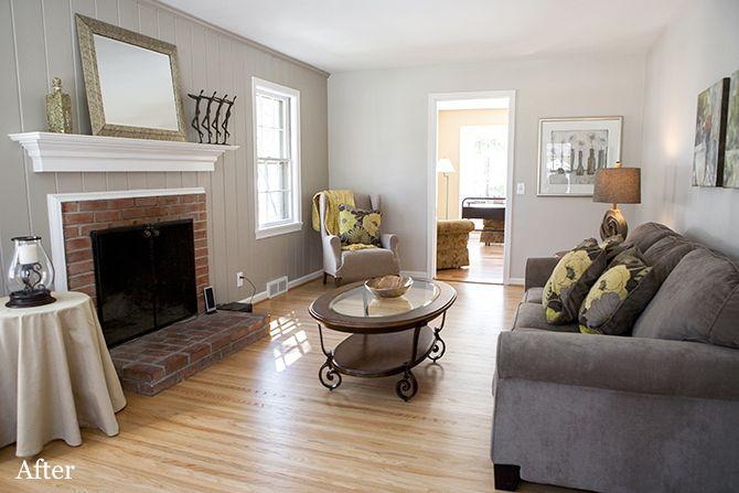 Dk Gray Sofa With Lt Gray Walls Livingrooms With Hardwood Floors 12 Popular Paint Colors