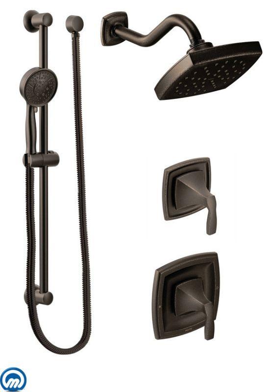 Moen 435 Pressure Balanced Shower System With Rain Shower