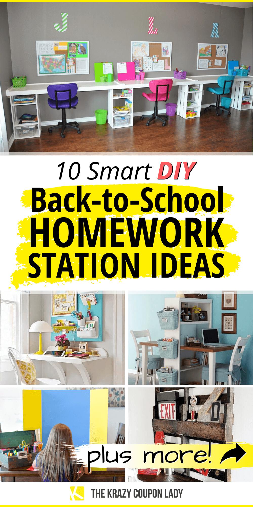 10 Diy Back To School Homework Station Ideas Kids Homework Station Kids Homework Station Diy Homework Station Diy
