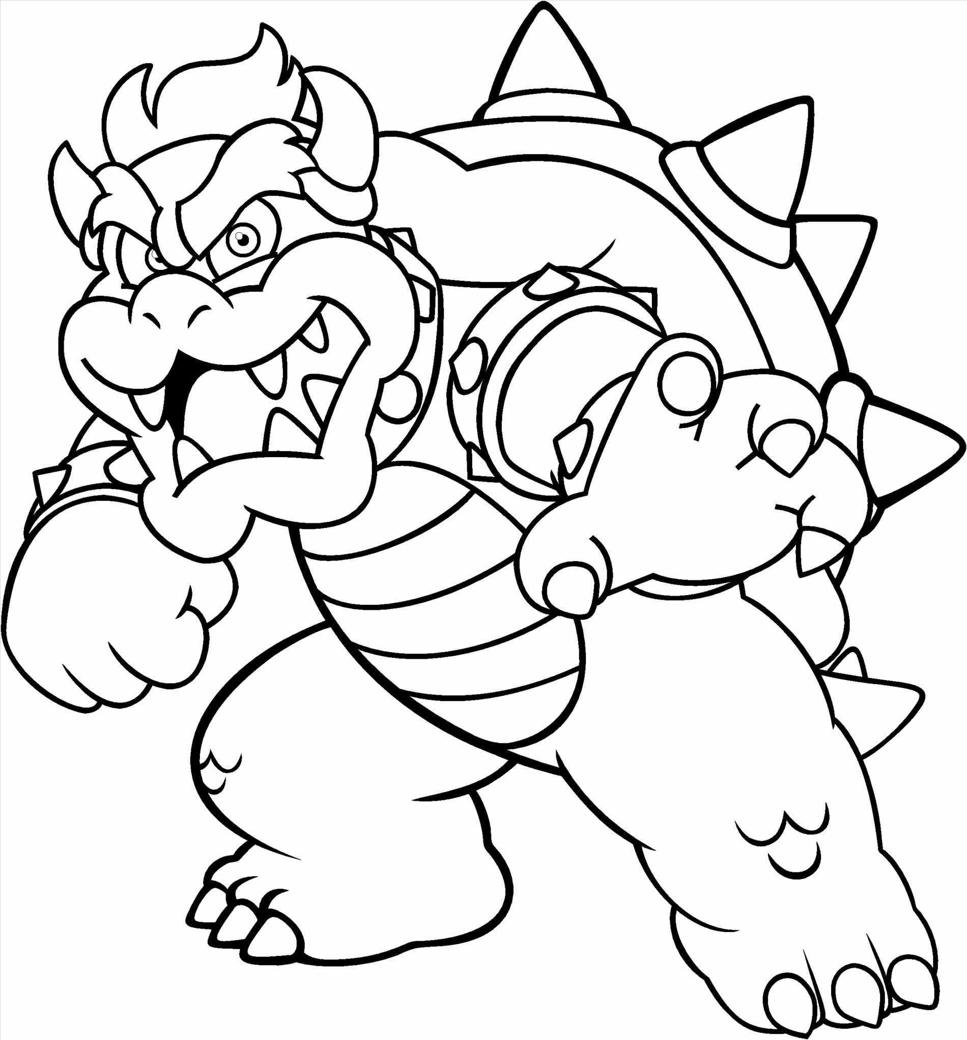 Mario And Bowser Coloring Pages To Print Monster Coloring Pages