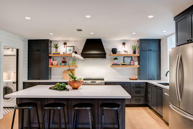 Clay Imports Glazed Thin Brick White Gloss Katie Postel Interiors Kitchen Interior New Kitchen Cabinets Modern Kitchen