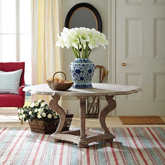 Tudor Rose Dining Table - Weathered Acacia