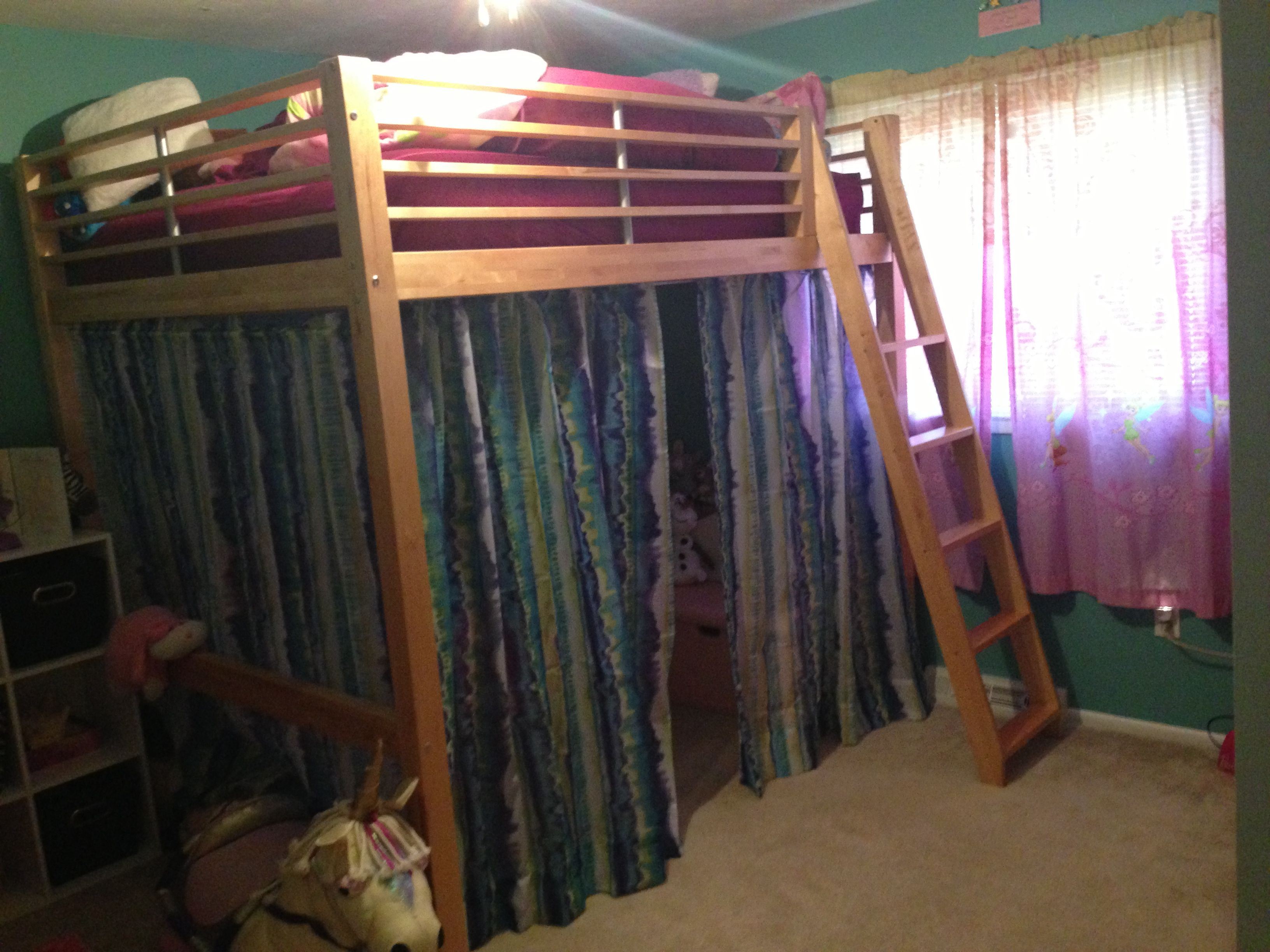 Loft bed ideas with curtains Loft bed, Loft bed curtains