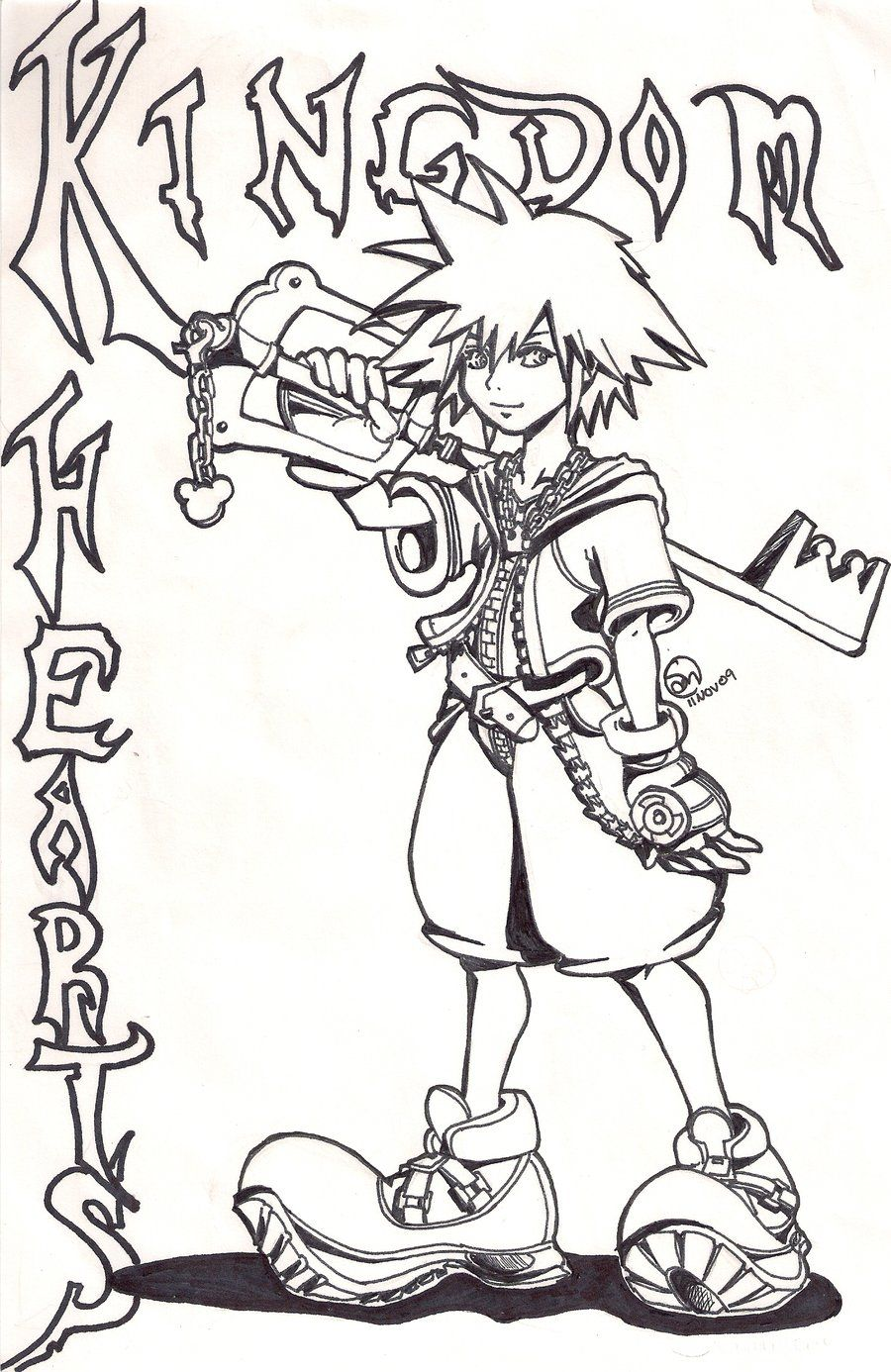 Free Kingdom Hearts Coloring Pages With Printable Kingdom Hearts