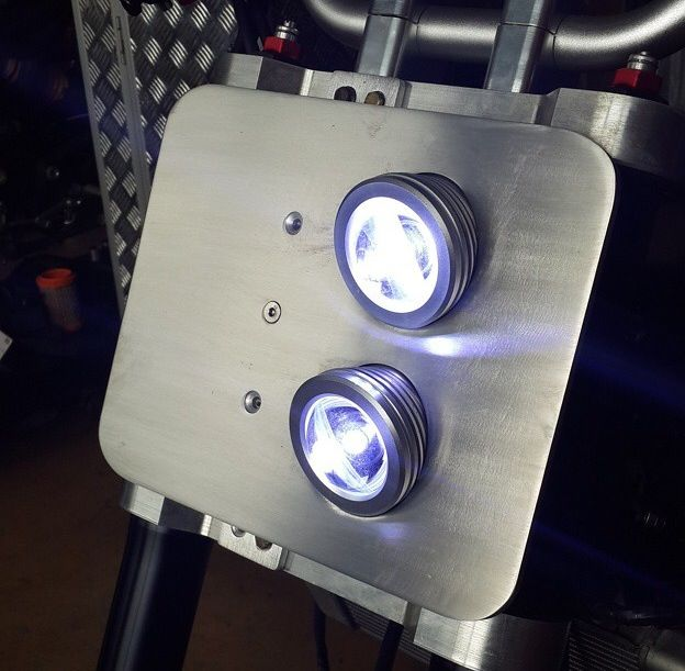 Headlight Idea For Street Tracker Badass Bikes Cafe