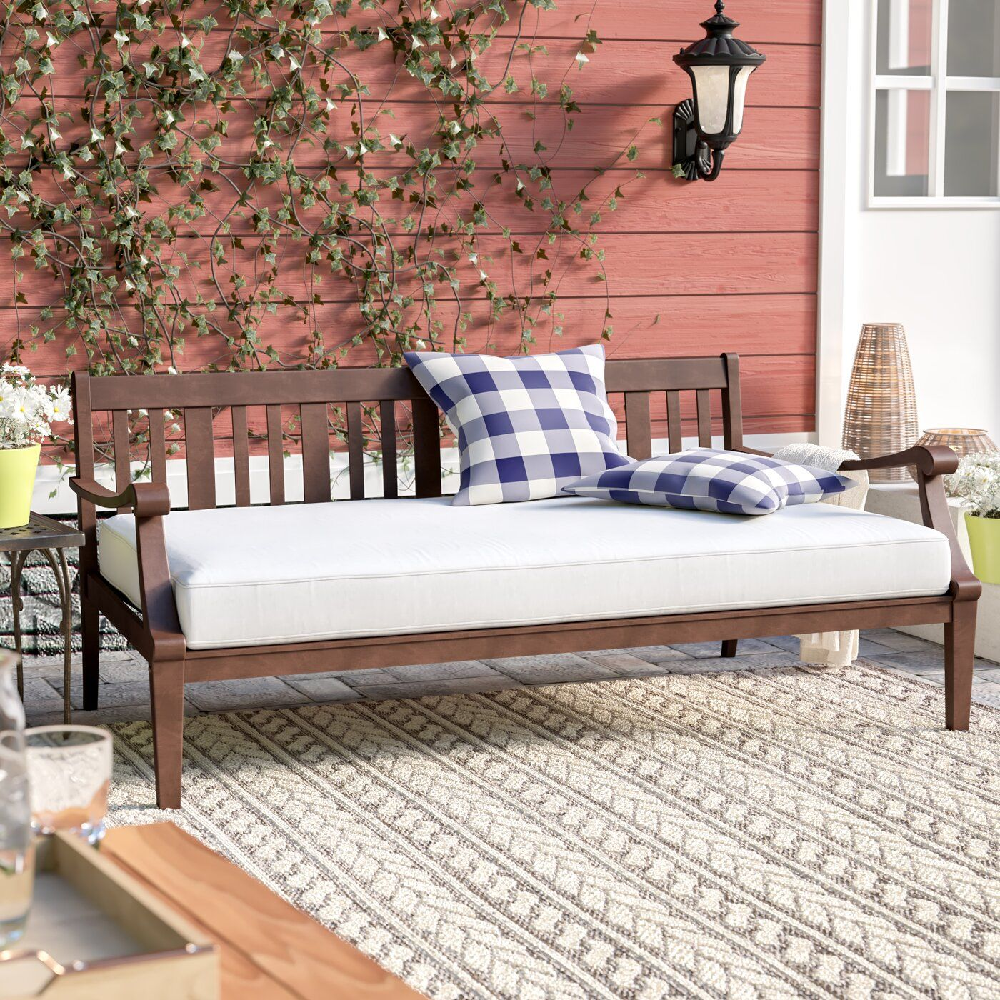 Dowling Patio Daybed with Cushion | Patio daybed, Outdoor ... on Living Spaces Outdoor Daybed id=96713