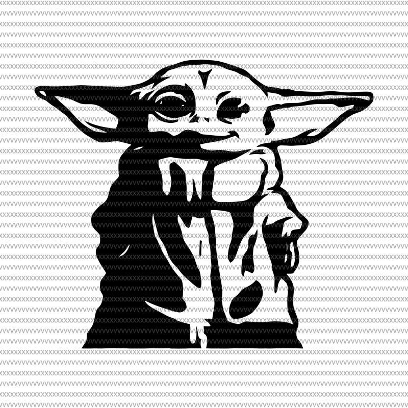 Baby Yoda Svg The Mandalorian The Child Baby Yoda Png Star Wars Svg Png The Child Png T Shirt Design For Sale Star Wars Stencil Star Wars Silhouette Star Wars