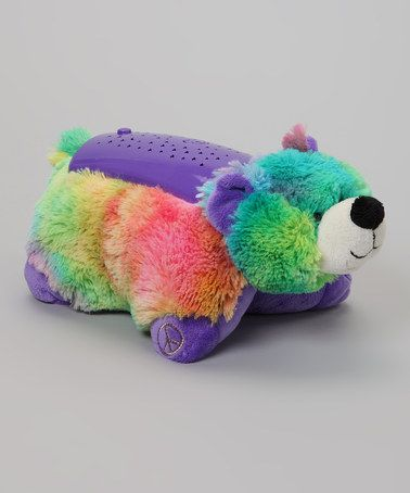 Take A Look At This Tie Dye Bear Dream Lites Plush Night Light By Dream Lites On Zulily Today Animal Pillows Led Color Changing Lights Night Light