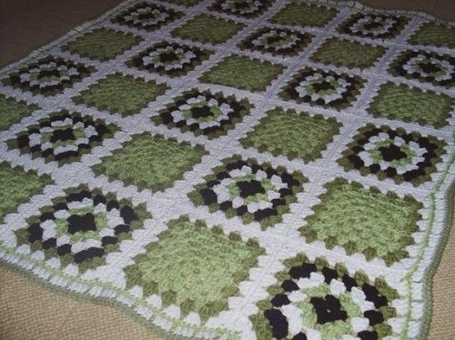 Crochet Granny Square Afghan. No pattern or item for purchase. Crochet inspiration. Color inspiration.