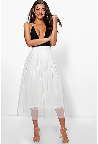 e7c299e6687c Tall Emily Boutique Tulle Mesh Midi | Bachelorette Party Dress