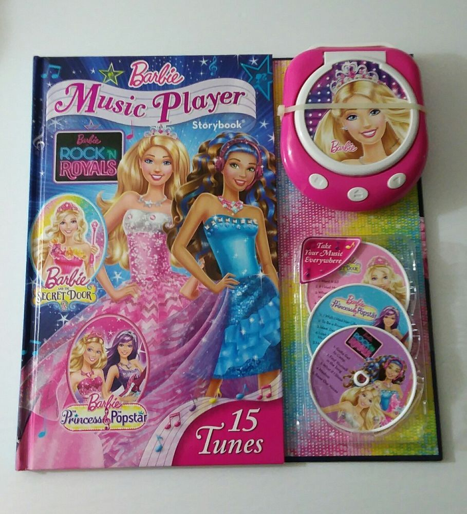 barbie music player storybook 2016 hardcover barbie music player