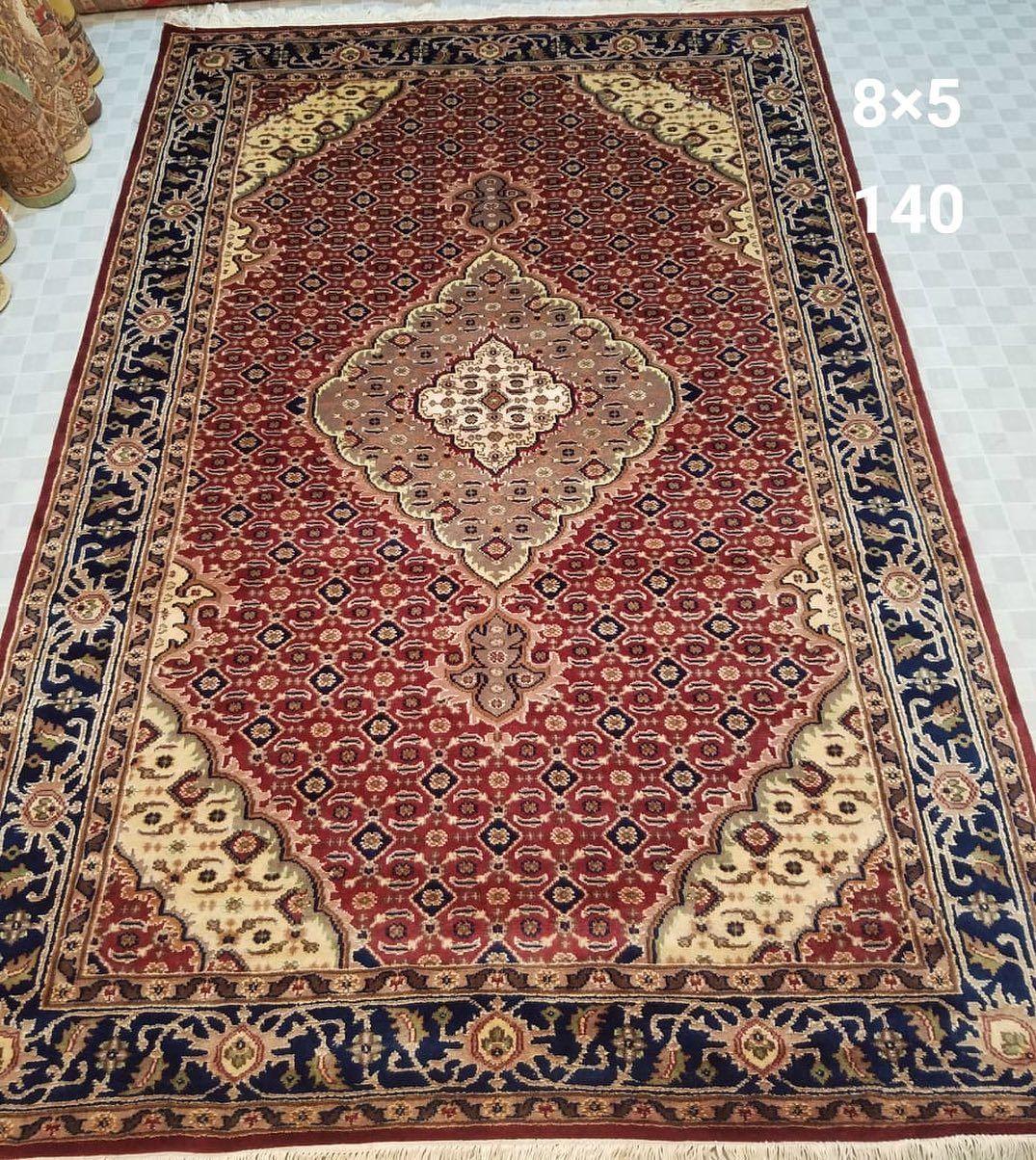 Pakistani Hand Made Carpet Silk Touch Design Mahi Tabraiz Single Knotes Size 8 5 Dm For Price Details Pakistan Karachi Ca Viscose Rug Rugs On Carpet Rugs