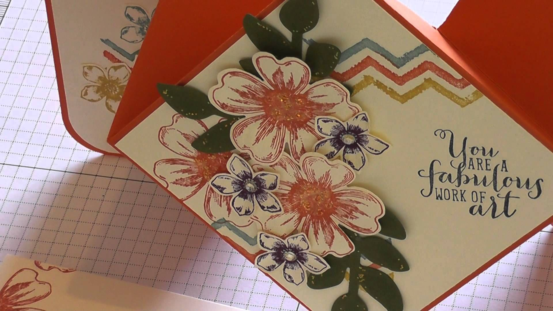 Diamond fold card tutorial part i wanna make it craft ideas