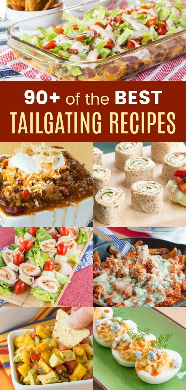 The Best Tailgating Recipes - over 90 easy recipes for your favorite tailgate food including dips, finger food, wings, nachos, chili, sliders, and more. Everything you love to eat while watching a football game! #cupcakesandkalechips #tailgate #tailgating #tailgatefood #tailgatingrecipes #tailgaterecipes #football #gameday #gamedayfood #diprecipes #nachos #wings #tailgatefood