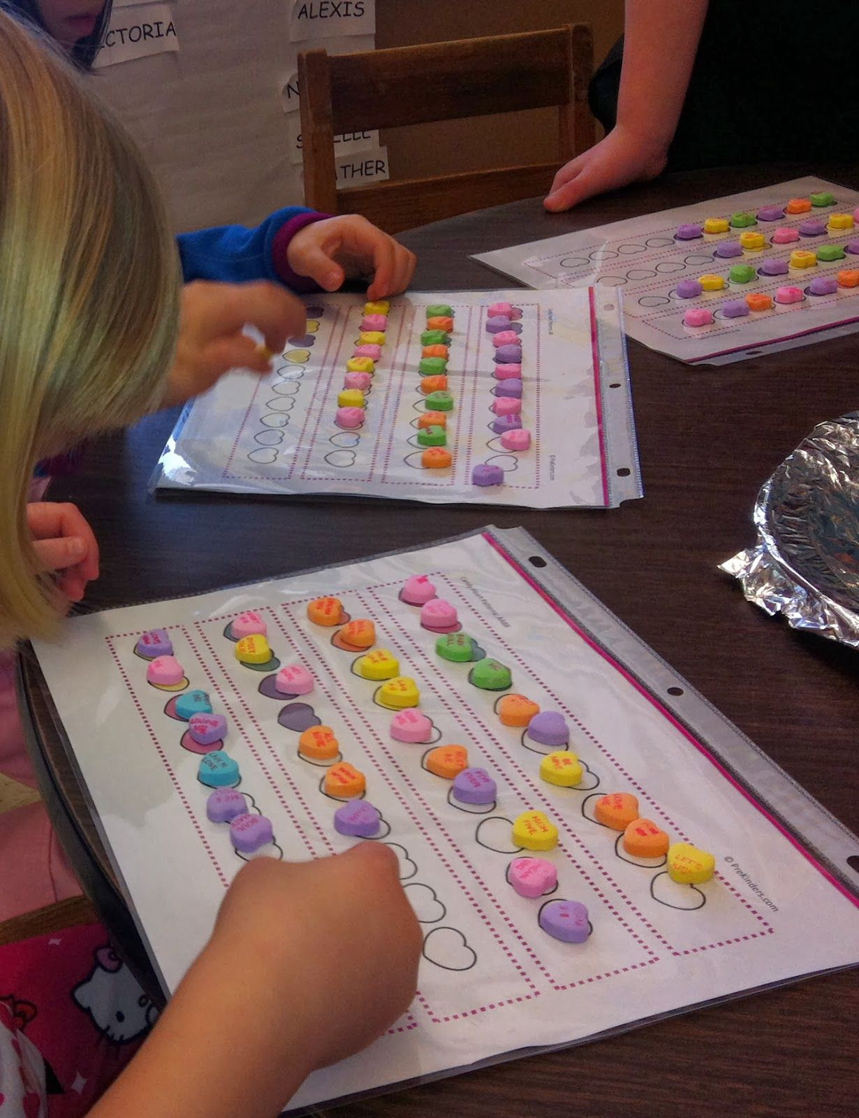 Little Mrs Preschool Easy Valentine S Day Math Activity With Printable Candy Heart Patterns
