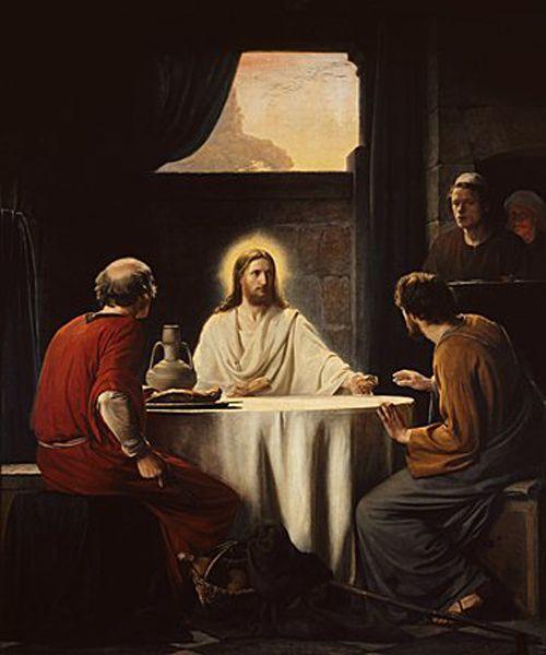 Supper at Emmaus by Carl Heinrich Bloch | Jesus christ, Christ, Gospel of  luke