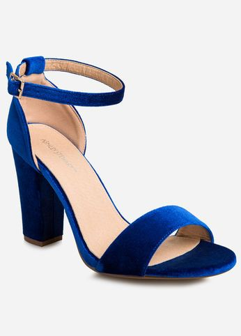 Velvet Chunky Heel Sandal - Wide Width | Wedding Shoes & Clutches ...