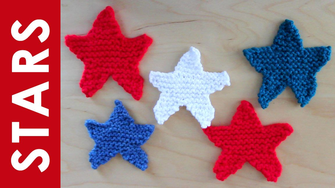 How to Knit a Star Shape with   Free pattern, Knit patterns and Patterns