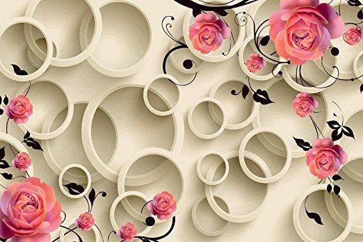 Roses 3D Wallpaper | Wallpaper for home wall, Flower wall decor, Rose wallpaper