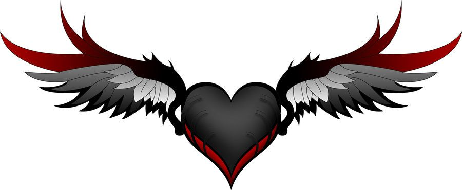 Related image | Heart with wings, Little heart tattoos ...