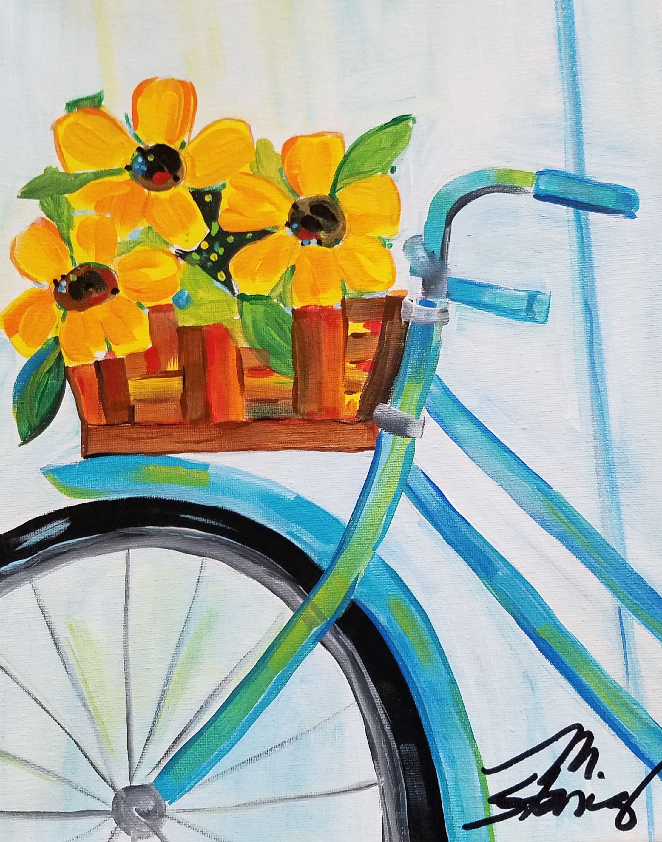 Pin By Katie On Painting Art Painting Bicycle Painting Easy