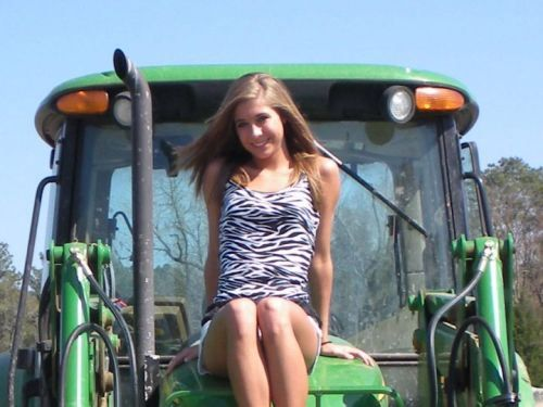 John Deere Babes : Girl on a john deere girls with tractors pinterest