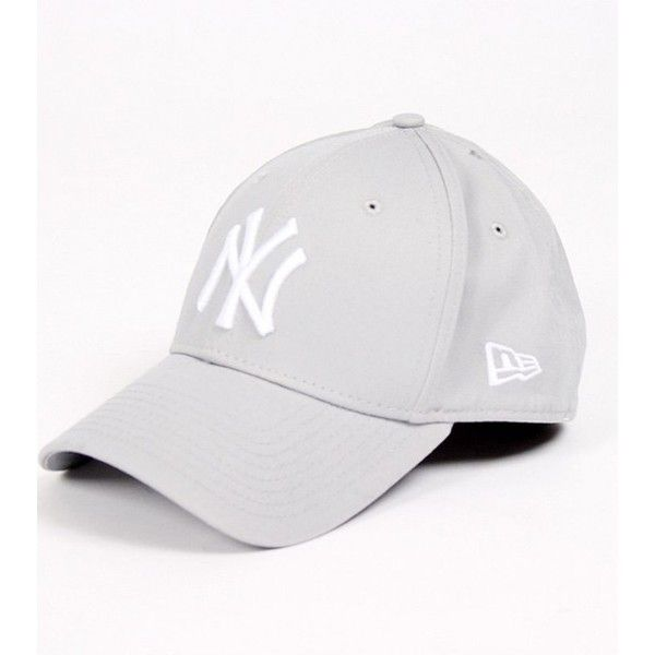 25c99ee0fda New Era 39Thirty League Basic Yankees grey cap ❤ liked on Polyvore  featuring accessories