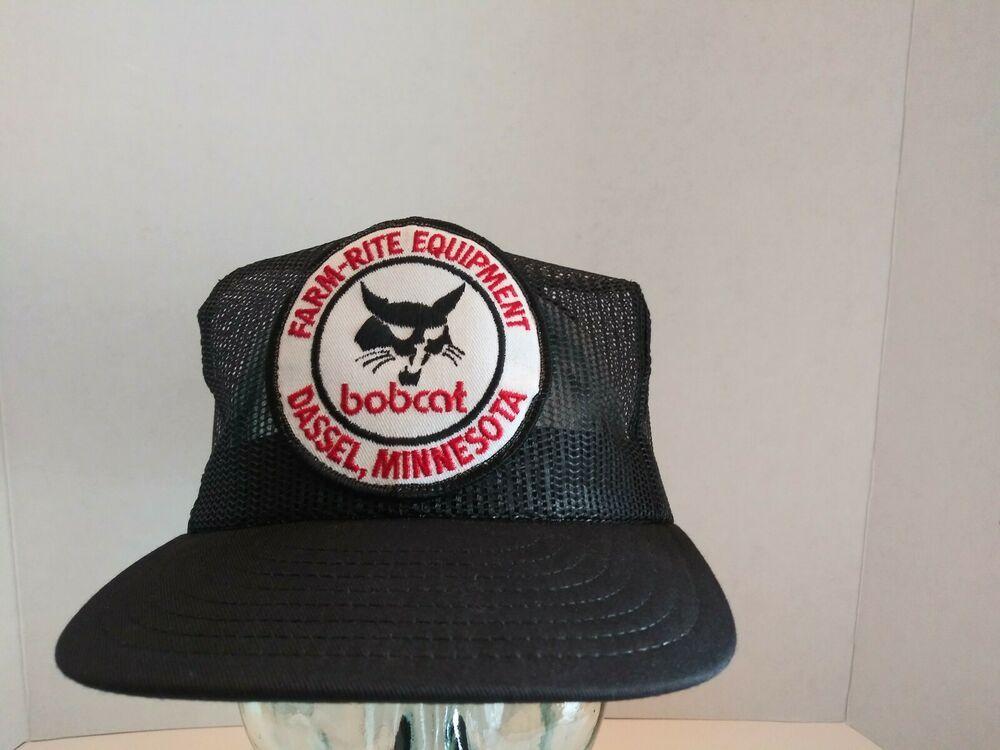 Vintage Bobcat Farm Rite Equipment All Mesh Snapback Hat Louisville Made In Usa Snapback Hats Vintage Jumpsuit Top Men Gifts