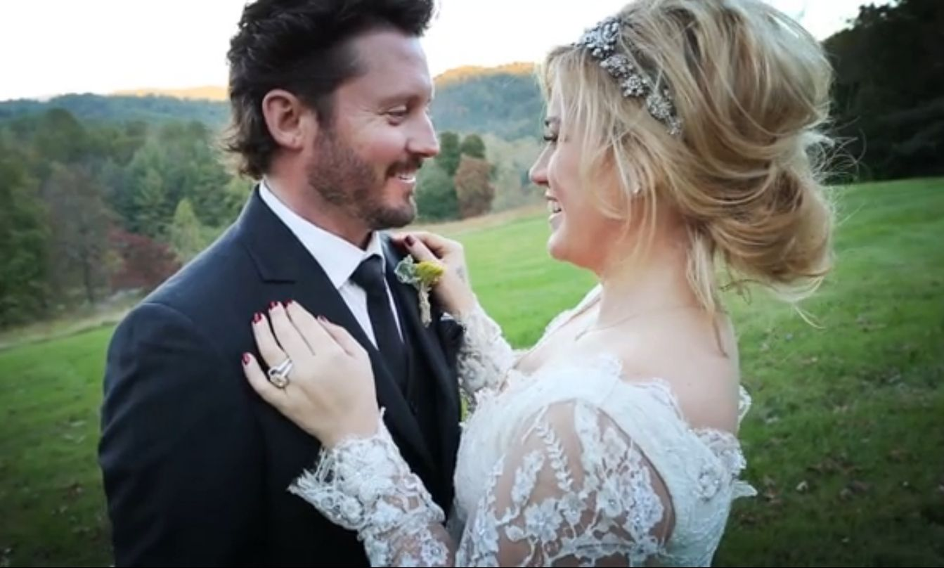 wedding hair with headband | 9.6.14 | kelly clarkson wedding