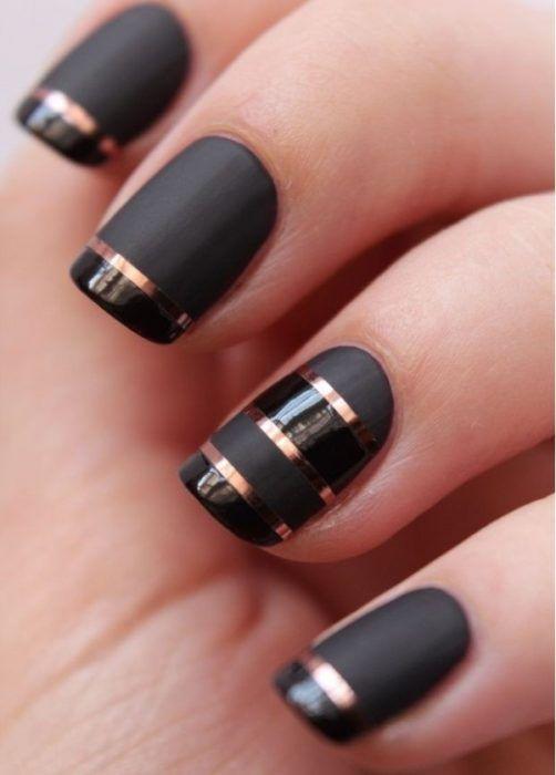 20 Increíbles diseños para uñas negro mate que te darán el toque ...
