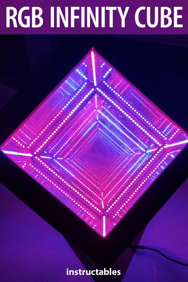 RGB Infinity Cube Cube, 3d printing diy, Diy tech