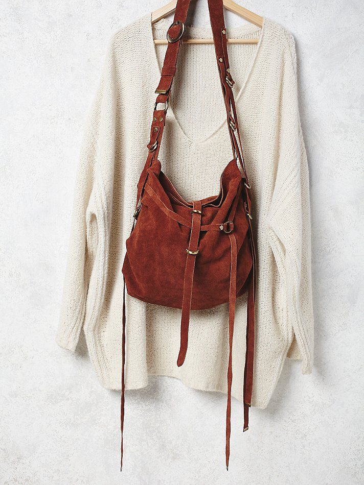 Goldpoint Suede Bag | So soft suede hobo bag featuring fringed ...